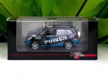 High Speed 1/43 Diecast Model Toyota RAV4 Port Adelaide Power (Black mix Green)