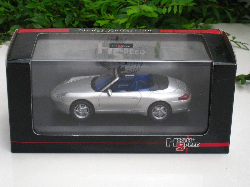 High Speed 1/43 Diecast Model Car Porsche 911 Carrera Cabrio (Silver) 1998