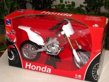 New Ray 1/6 Die cast Motorcycle Motocross Honda CRF450R