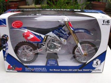 New Ray 1/6 Die cast Motorcycle Motocross Yamaha YZ450F Racing Bike #1