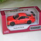 "Kinsmart (5"") Die cast Model Car 2010 Porsche 911 997 GT3 RS Orange (1-36) Sports Car"