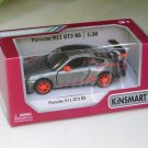 "Kinsmart (5"") Die cast Model Car 2010 Porsche 911 997 GT3 RS Gray (1-36) Sports Car"