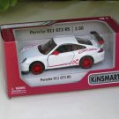 "Kinsmart (5"") Die cast Model Car 2010 Porsche 911 997 GT3 RS White  (1-36) Sports Car"