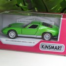 "Kinsmart (5"") Die cast Model Car  1971 Lamborghini Miura P400 SV Green (1-34) Sports Car"