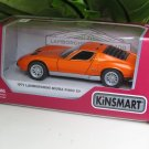 "Kinsmart (5"") Die cast Model Car  1971 Lamborghini Miura P400 SV Orange (1-34) Sports Car"