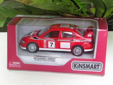 "Kinsmart (5"") Die cast  2001 Mitsubishi Lancer Evolution Evo VII WRC #7 (1-36) Rally Car"