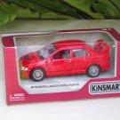 """Kinsmart (5"""") Die cast  2001 Mitsubishi Lancer Evolution Evo VII Red  (1-36)"""