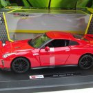 Bburago 1/24 Diecast Car Model Star Collezione Series 2017 Nissan GT- R (RED)