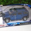 Maisto 1/24 Diecast Car Special Edition   Hummer H2 SUV (2003) Blue