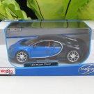Maisto 1/24 Diecast Car Special Edition  Bugatti Chiron (Blue)