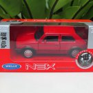 Welly NEX 1-38 (11cm) Die cast VW 1983 Volkswager Golf 1 GTI MK1 RED