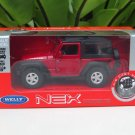 Welly NEX 1-38 (11cm) Die cast 2007 Jeep Wrangler Rubicon RED Hard Top