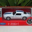 Welly NEX 1-38 (11cm) Die cast 1972 Pontiac Firebird Trans AM White Sport Car