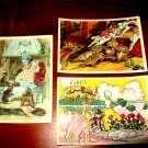 Old Soviet postcards set; Pawl, fairy tale.
