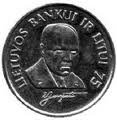 1 litas coin dedicated to banker Jurgutis