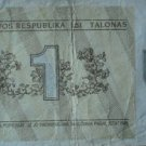 Lithuania money 1 talonas, 1991