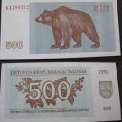 Lithuania money 500 talonų, 1992