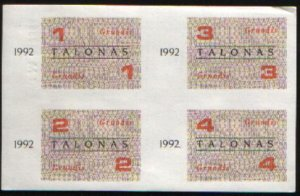 Lithuania food vouchers, 1992 december month