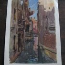 Vinatage Soviet postcard 1929, Venice, paintng of  K. Sklerius