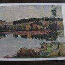 Vinatage Soviet postcard 1953, Thun und die Alpen