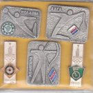 5 pins collection,  Moscow olympic games of 1980
