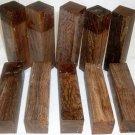 """Bocote Woodturning 1.5""""x1.5""""x6"""" Goose Calls Knife Blank"""