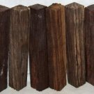 10 Pcs Mun Ebony Wood Woodturning Pen Blanks 3/4x3/4x5 Shipped Free Hair Sticks