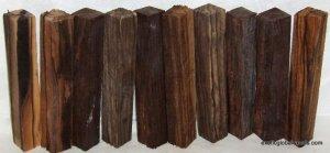 10 Pcs Mun Ebony Wood Woodturning Pen Blanks 3/4x3/4x5 Shipped Free Hair Sticks