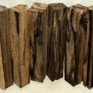 Black & White Ebony Wood 3/4x3/4x5.5 Lumber Woodturning Pen Blanks Shipped Free