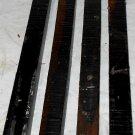 4 GABON EBONY Wood 1x1x12 Turning Stock For Magic Wands Photo Frame SHIPPED FREE