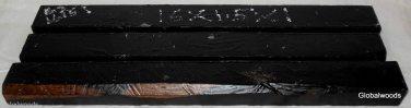 3 GABON EBONY Boards16x1.5x1 Turning Stock Magic Wands Photo Frames SHIPPED FREE