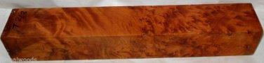 Thuya Burl 2x2x12 Woodturning Reel Seats Door Knobs Pool Cues Hunt Knife Grips