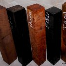 Five Rare Exotic Woods Lumber Turning Stock 2x2x12 Woodworkers Collector Edition