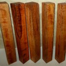 5 Mango Wood Turning Blanks For Woodwind Instruments Reel Seats Pool Cues Lumber