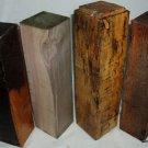 4 Peppermills Woodturning Stock for Gunsmithing Pol Cues Knife Handles Guitars