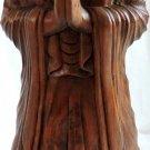 Carved Wood Figured Statue of Lord Buddha Zen Meditation Buddhism Spirituality