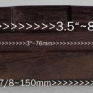 Rosewood Archtop Guitar Bridge Chrome Posts Wheels Comp Saddle Archtop Guitars