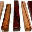 Five Mixed Species Pen Blanks Penturning Wood Hair Sticks Reel Seats Key Chains