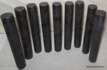 9 Black GABON EBONY Hardwood For Japanese Knife Handle Making Stereo Disks Wood