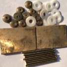 Straight Razor Making Supply 2 Brass Wedges 12 Collars 8 Pins 12 Teflon Washers