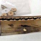 Pre Shaped Ram Horn Straight Razor Scales Brass Plated Razor Handles Hardware