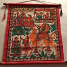 "Phad Painting Rajasthan Miniature Art 16""x15"" Handmade Indian Folk Art Antique"