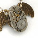 Harry Potter Steampunk OWL PENDANT - Jeweled Watch Movement - Gears and Cogs