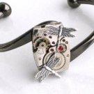 STEAMPUNK - DRAGONFLY BRACELET - Jeweled Watch Movement - Neo Victorian