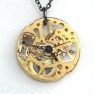 Steampunk Skeleton POCKET WATCH Jewel Movement Necklace