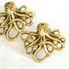 Steampunk OCTOPUS CUFFLINKS Antique Gold Nautical