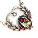 Steampunk GOTHIC HEART Quartz Watch Movement Necklace