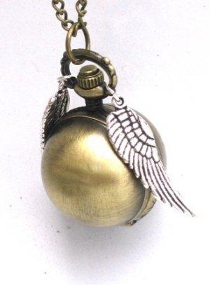 Harry Potter STEAMPUNK Snitch Pocket WATCH Necklace