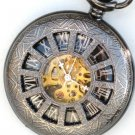 Steampunk DARK WINDOWS Pocket Watch Mechanical Necklace