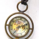 Steampunk Harry Potter TIME TURNER Necklace - Mechanical Pocket Watch